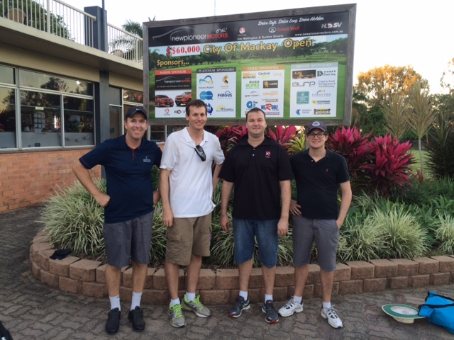 Darren Sekac, Steven Hayles, Michael Hayles (CE Smith & Co), and Kendell Bocos at the Mackay Golf Club